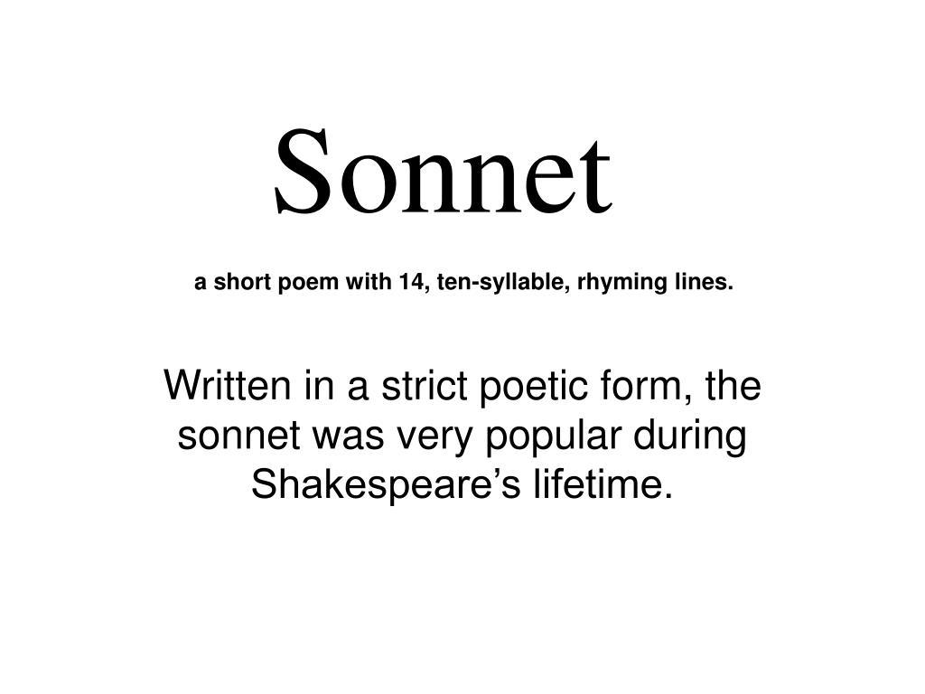 ppt sonnet powerpoint presentation id 3287351