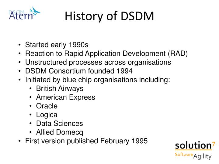 History of DSDM