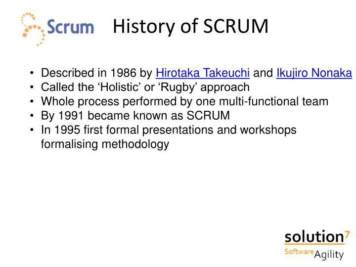 History of SCRUM