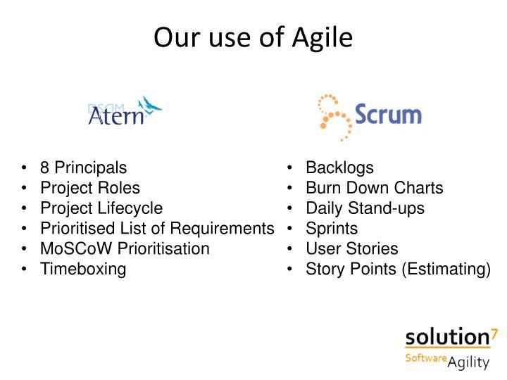 Our use of Agile