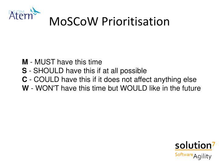 MoSCoW Prioritisation