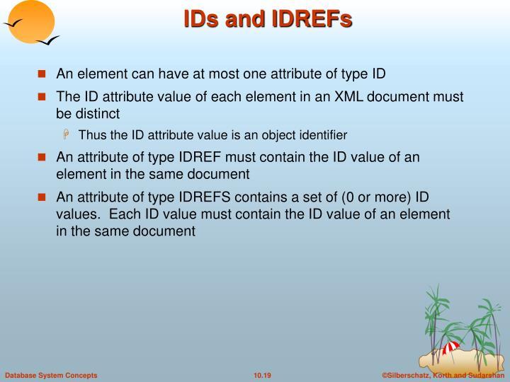 IDs and IDREFs