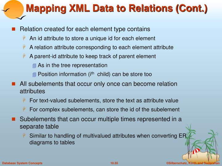 Mapping XML Data to Relations (Cont.)