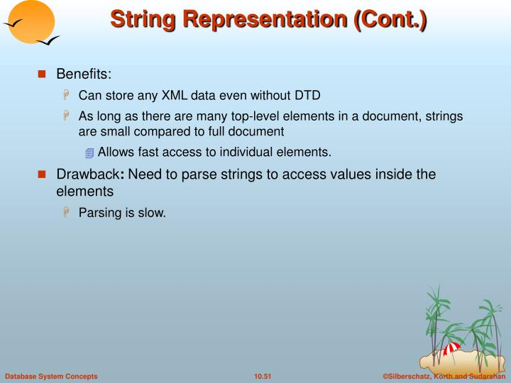 String Representation (Cont.)