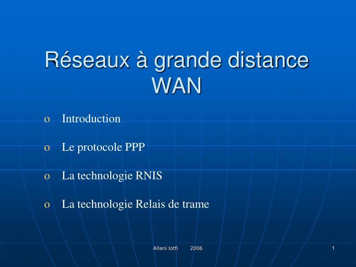 r seaux grande distance wan n.