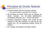 princ pios do direito notarial