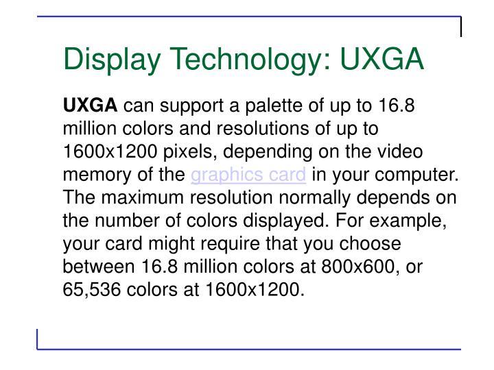 Display Technology: UXGA