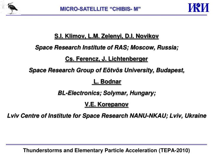 Thunderstorms and elementary particle acceleration tepa 2010
