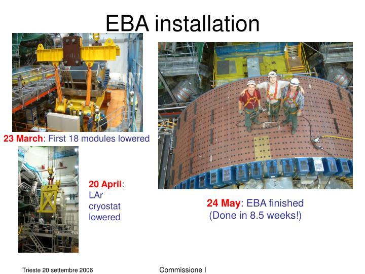 Eba installation
