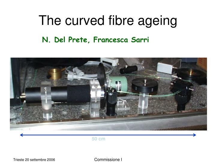 The curved fibre ageing