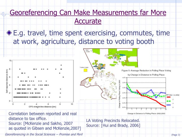 Georeferencing Can Make Measurements far More Accurate