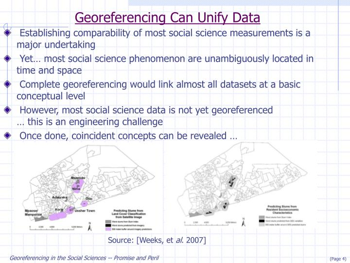 Georeferencing Can Unify Data