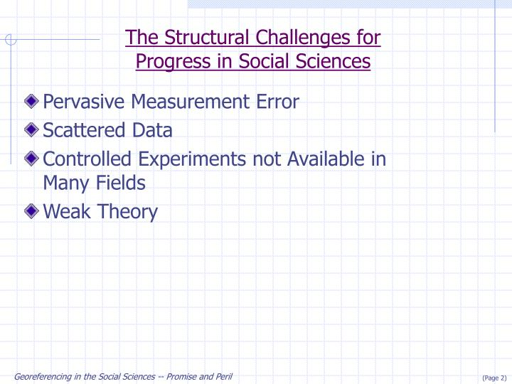 The Structural Challenges for