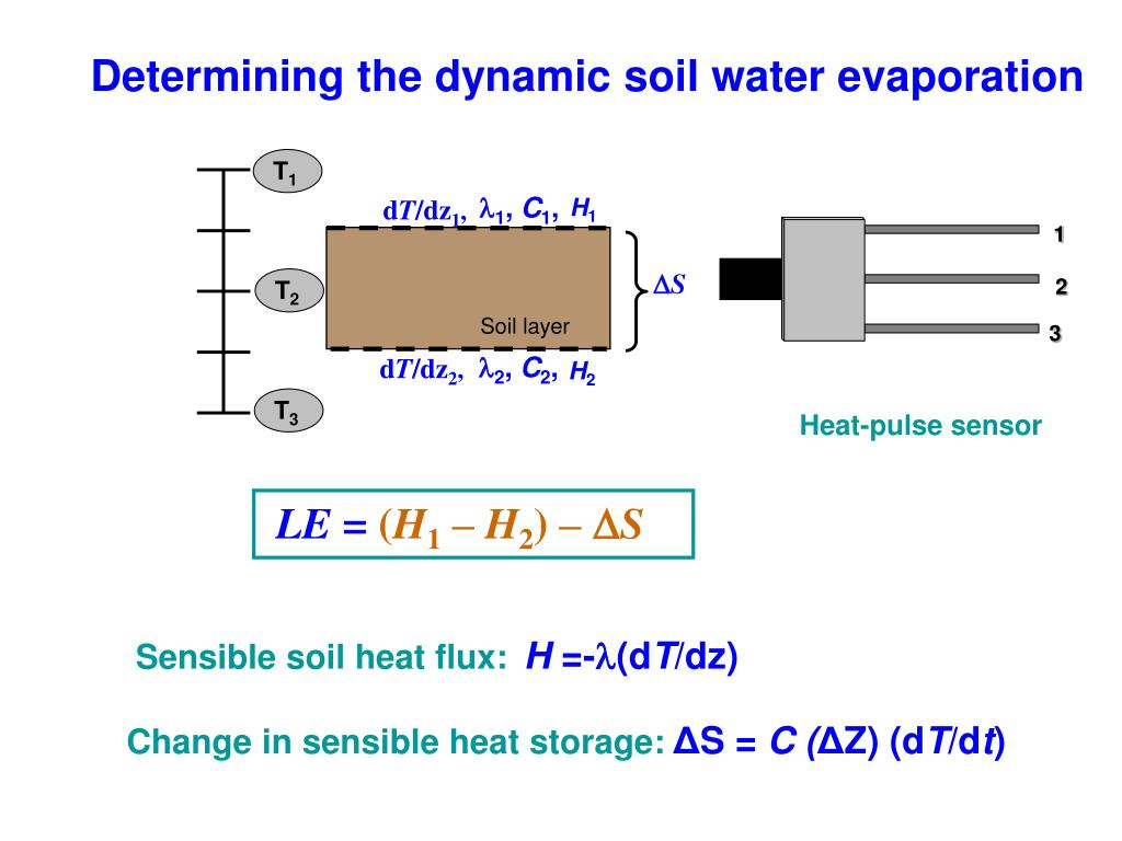 PPT - Heat Pulse Measurements to determine: soil thermal properties
