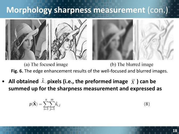 Morphology sharpness measurement
