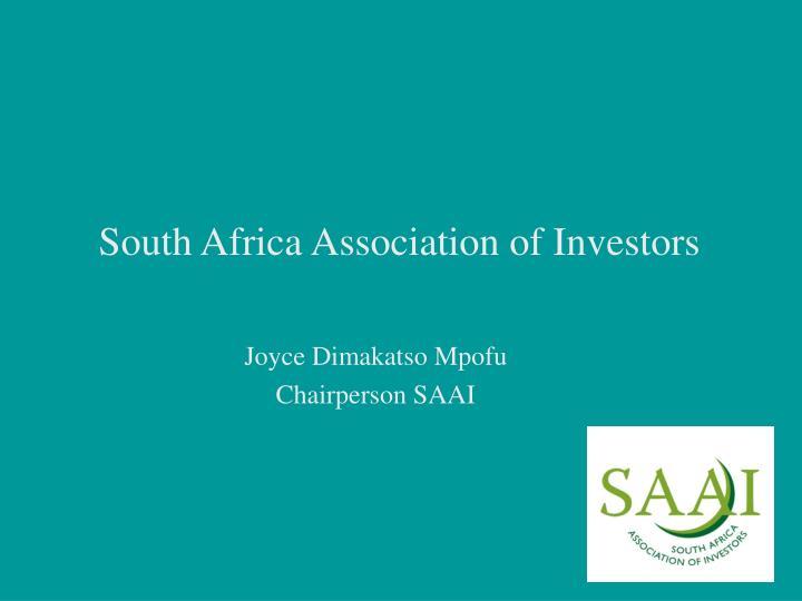 south africa association of investors