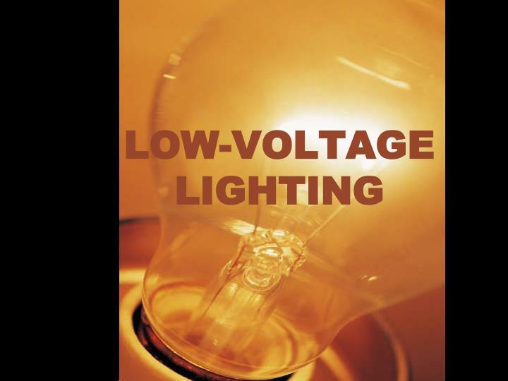 low voltage lighting n.