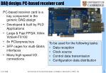 daq design pc based receiver card