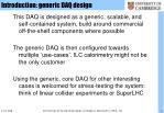 introduction generic daq design