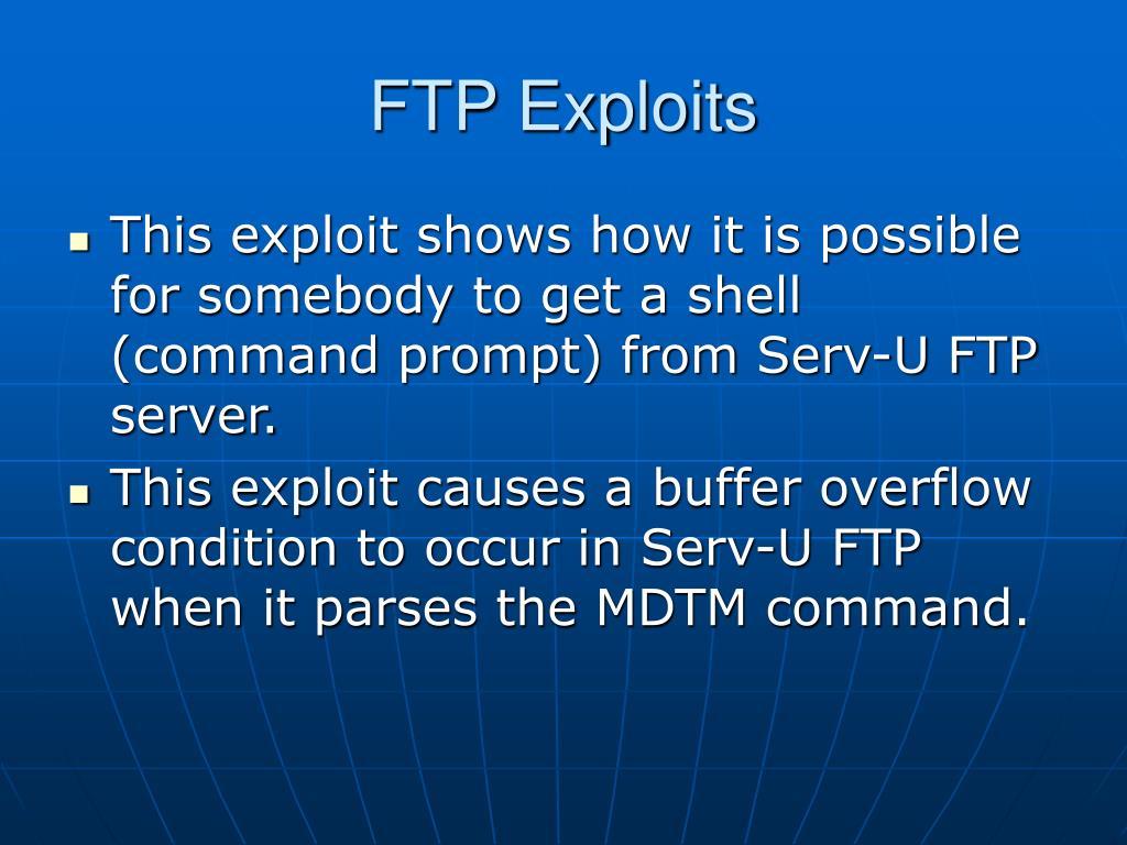 PPT - Exploits PowerPoint Presentation - ID:3288112