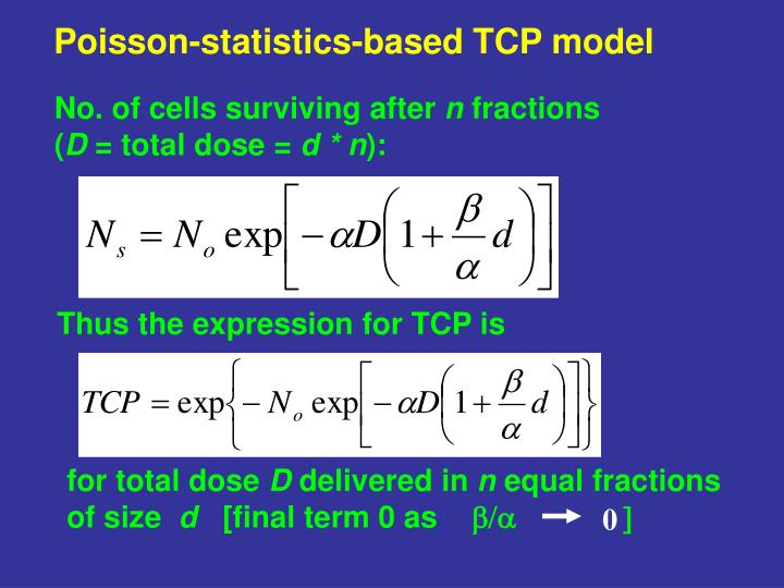 Poisson-statistics-based TCP model