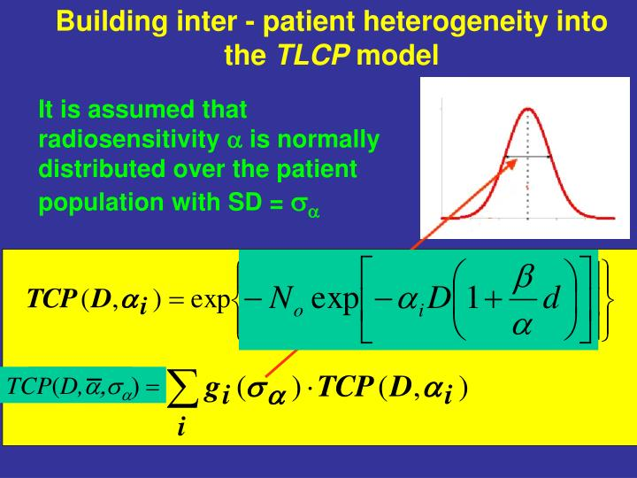 Building inter - patient heterogeneity into the
