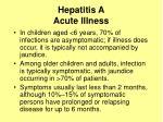 hepatitis a acute illness