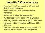hepatitis c characterisitcs