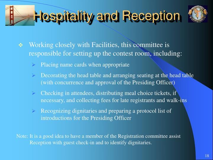 Hospitality and Reception