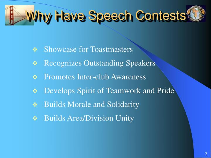 Why have speech contests