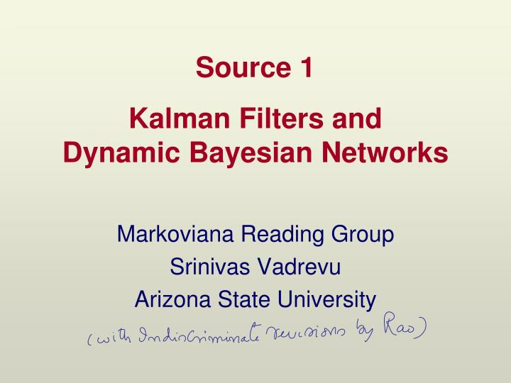 kalman filters and dynamic bayesian networks n.