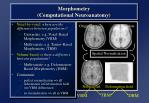 morphometry computational neuroanatomy