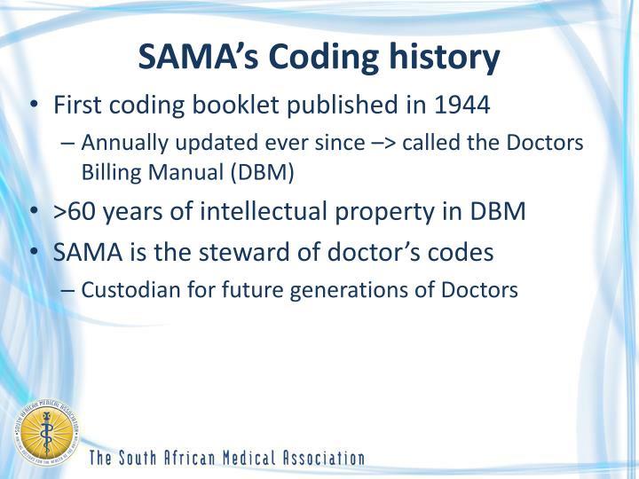SAMA's Coding history