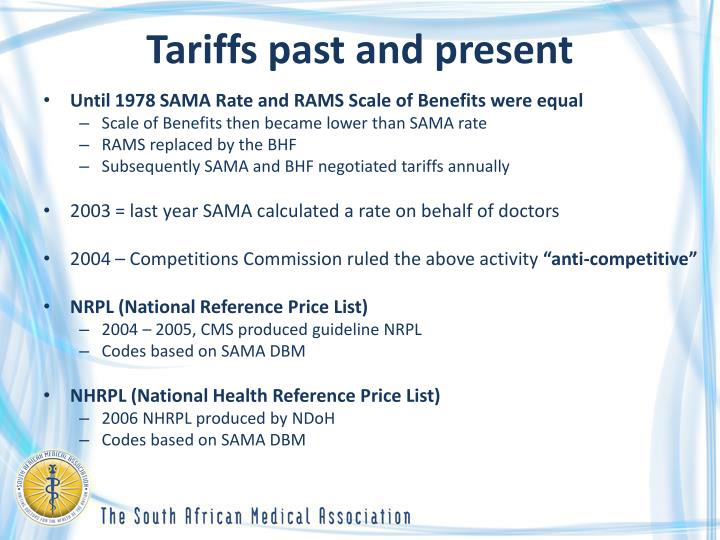 Tariffs past and present