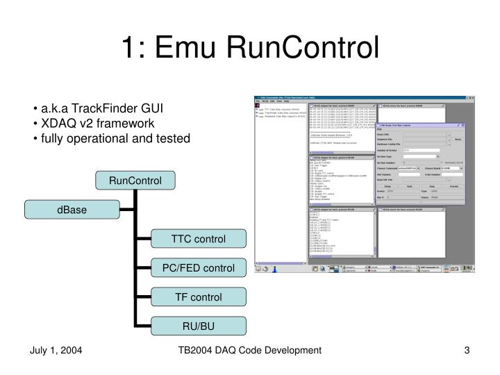 1 emu runcontrol