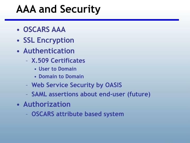 AAA and Security