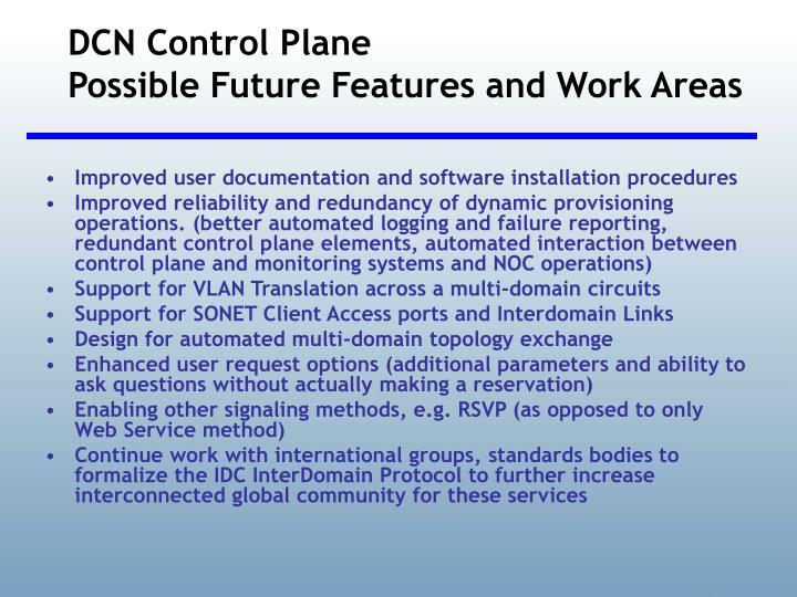 DCN Control Plane