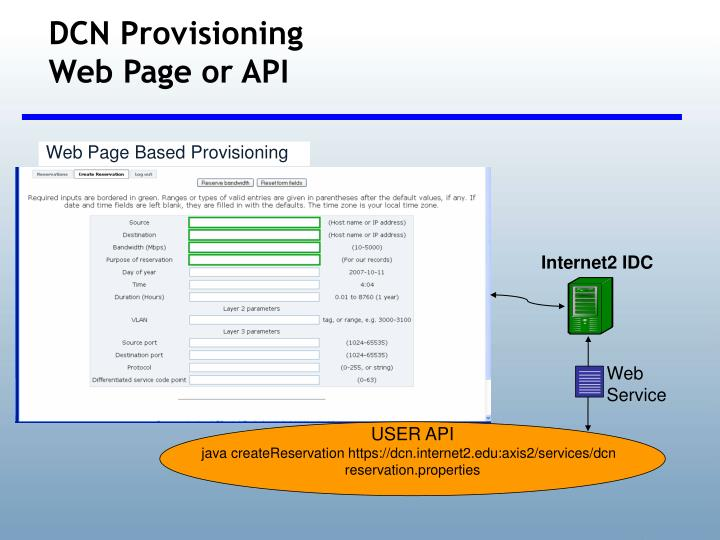 DCN Provisioning