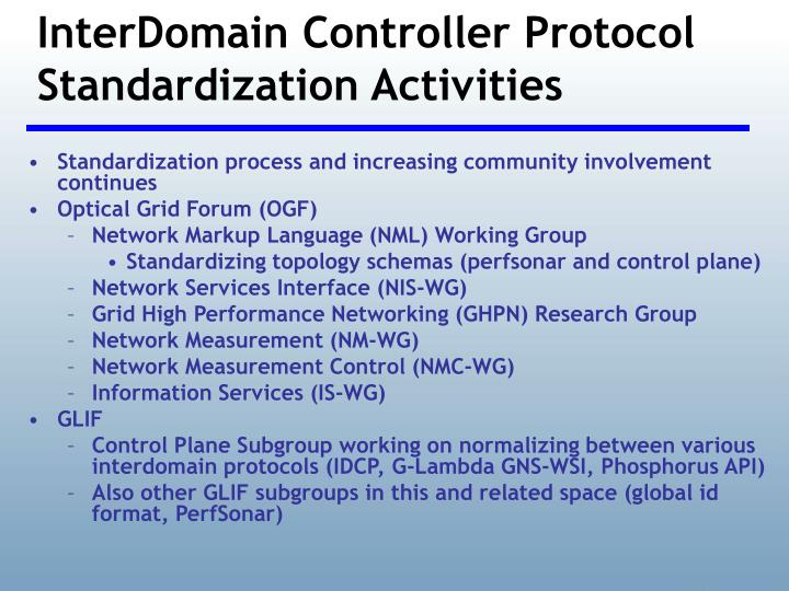InterDomain Controller Protocol