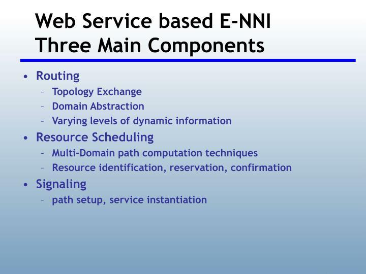 Web Service based E-NNI
