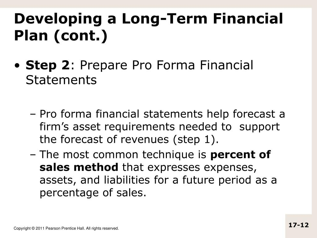 Steps In Forecasting Financial Statements