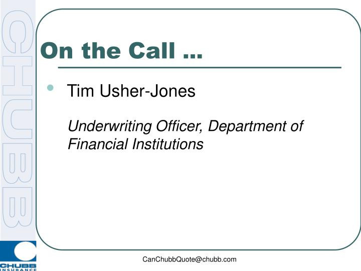 ppt chubb s department of financial institutions powerpoint presentation id 3288636