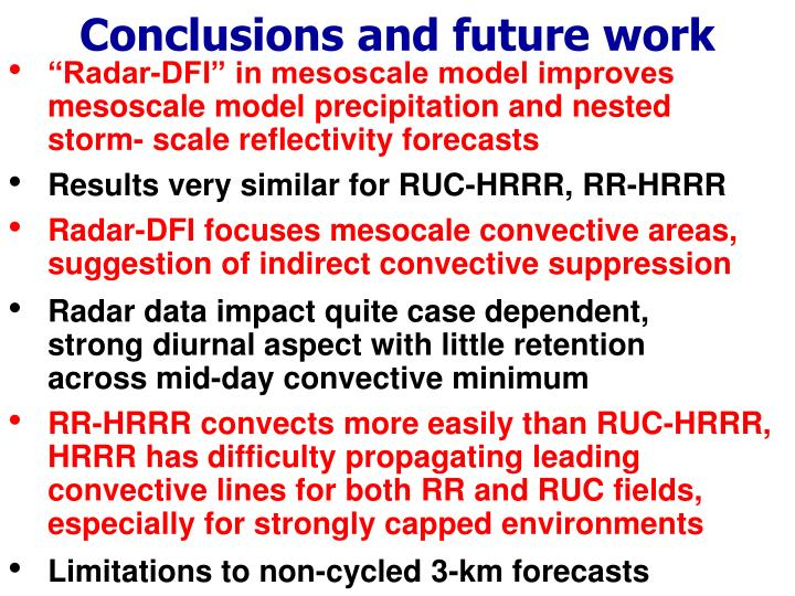 Conclusions and future work