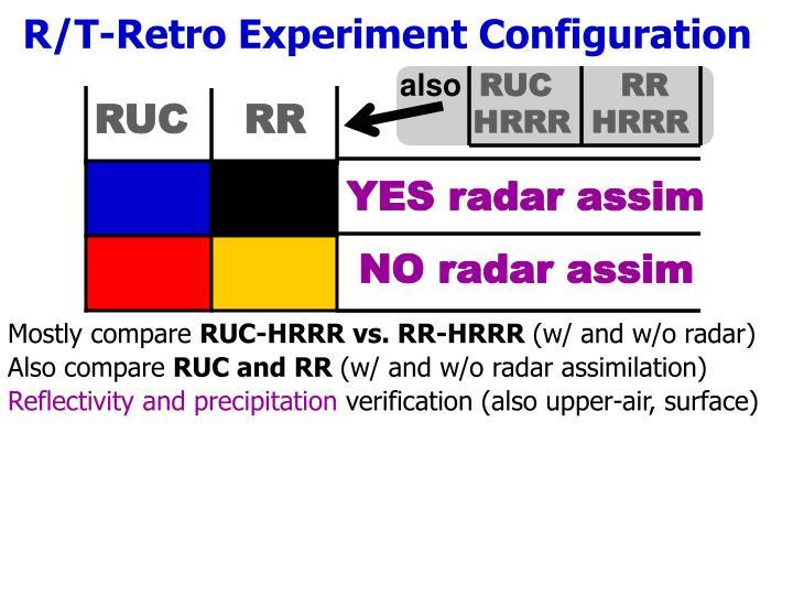 R/T-Retro Experiment Configuration