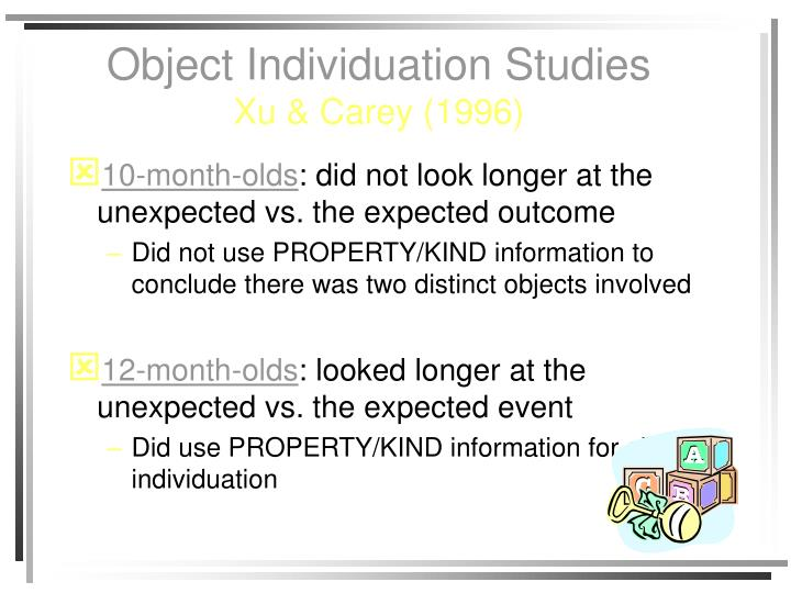 Object Individuation Studies