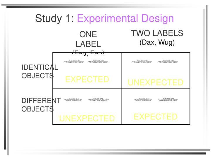 Study 1: