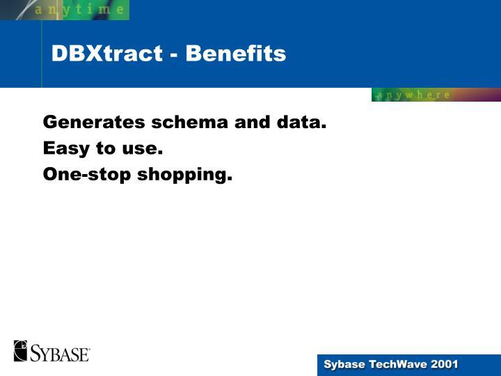 Generates schema and data.