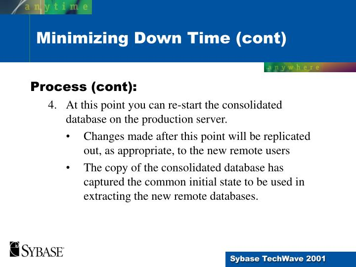 Process (cont):