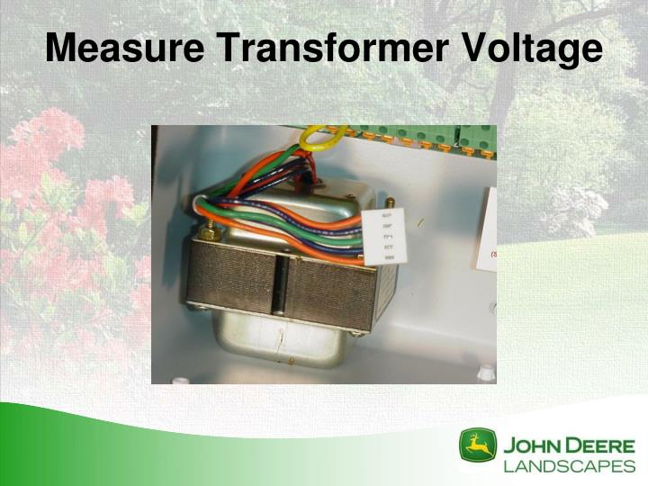 Measure Transformer Voltage