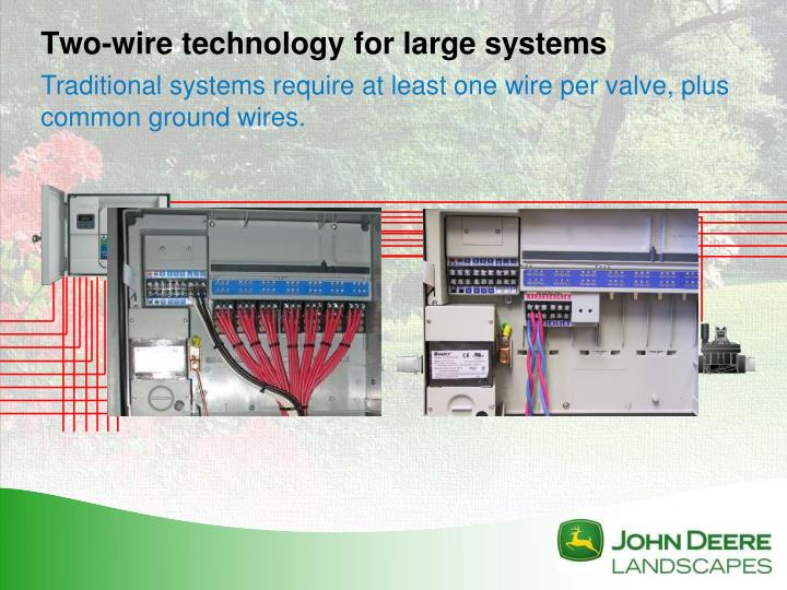Two-wire technology for large systems